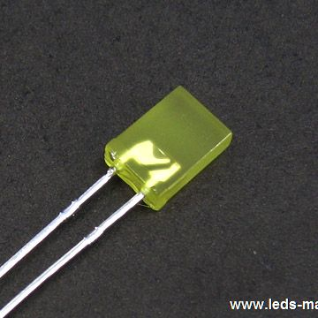 5×5mm Square With Flange Type Green LED