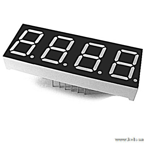"0.40"" Quadruple Digit Numeric Displays"