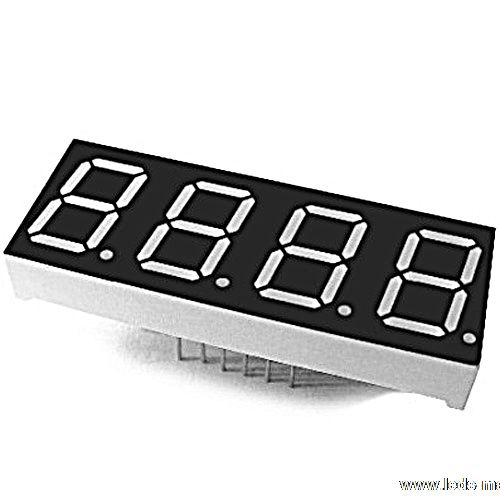 "0.52"" Quadruple Digit Numeric Displays"